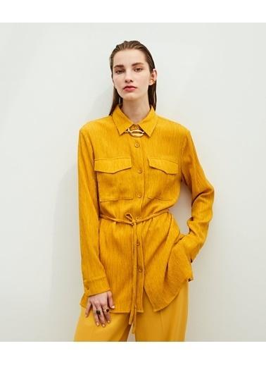 Ipekyol Kadın  Gömlek IW6200025135 Sarı